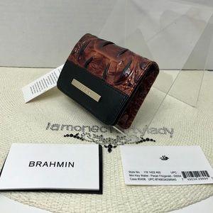 Brahmin Mini Key Wallet PECAN FITZGERALD New